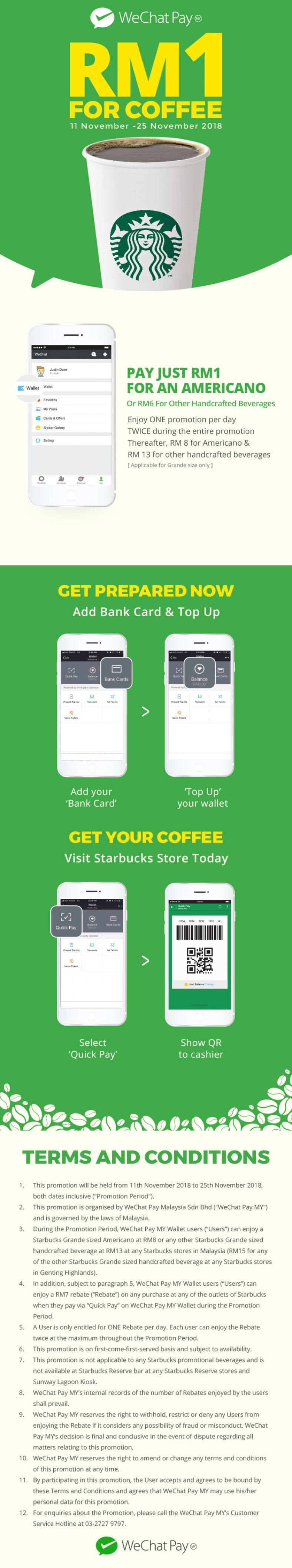 Starbucks Coffee For Only RM1 (Extended Offer) - Foodie
