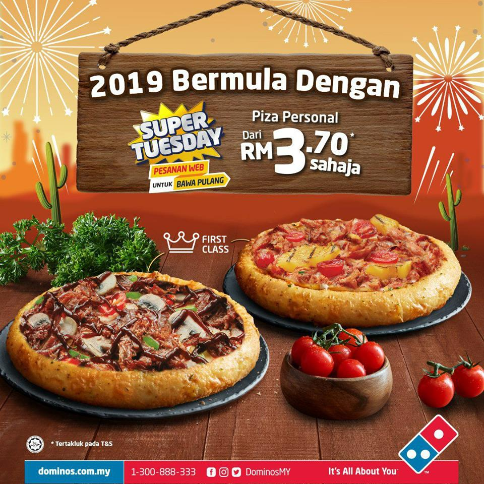 Domino's Pizza: Better Offer Of Super Tuesday In 2019! - Foodie