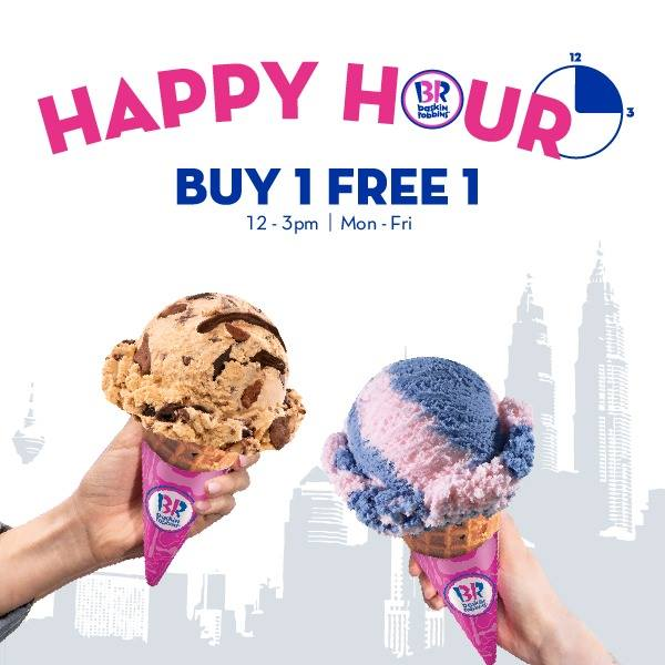 Baskin-Robbins Buy 1 Free 1 Promotion