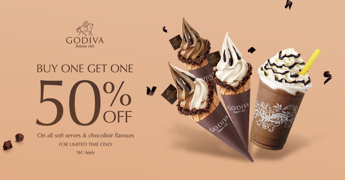 Godiva 50% Softserve & Chocolixir