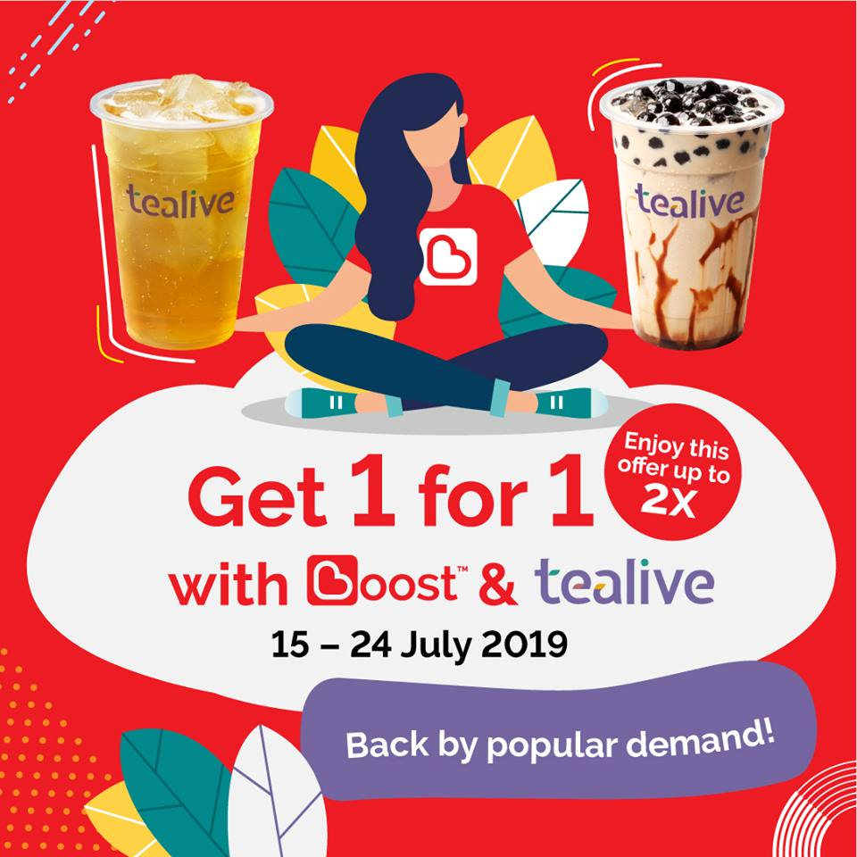 Tealive x Boost Buy 1 Free 1 Promotion!