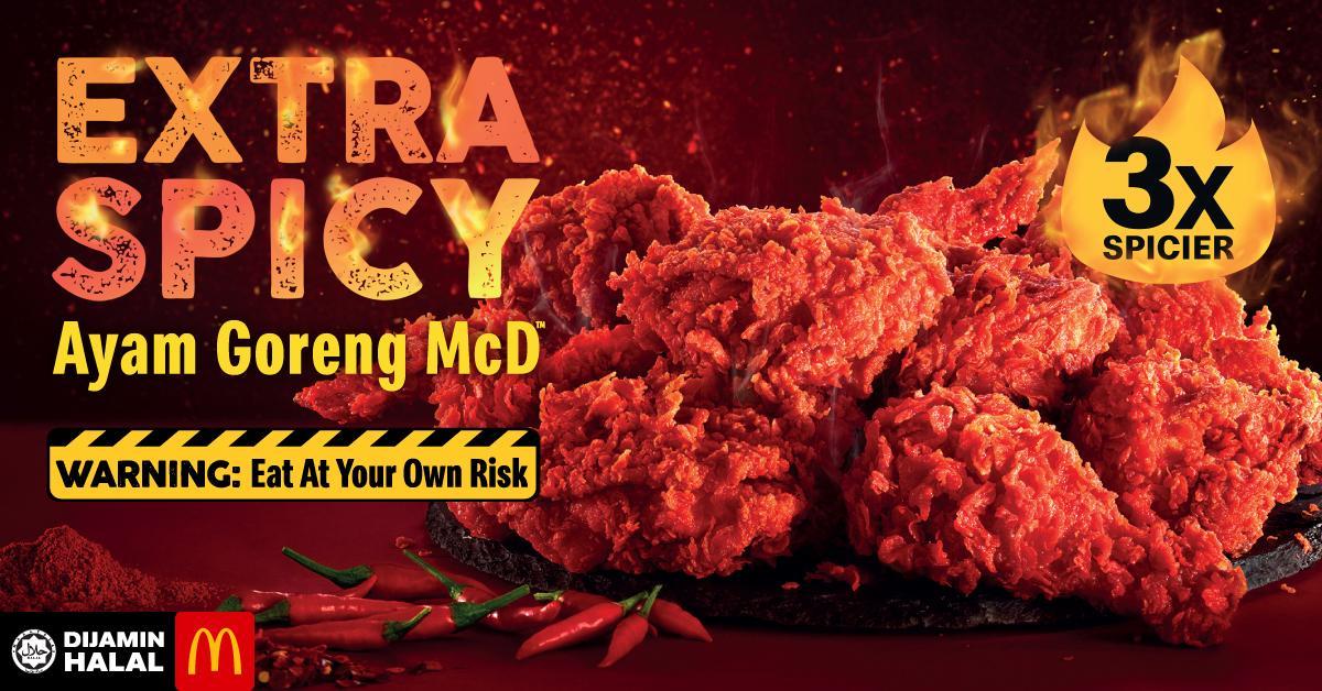 Extra Spicy Ayam Goreng at McDonald's