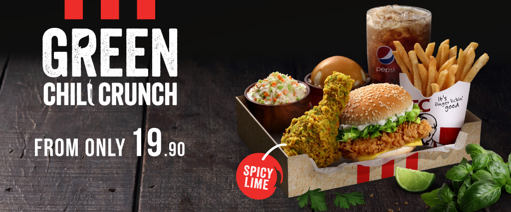 Green Chili Crunch Box Meal from KFC