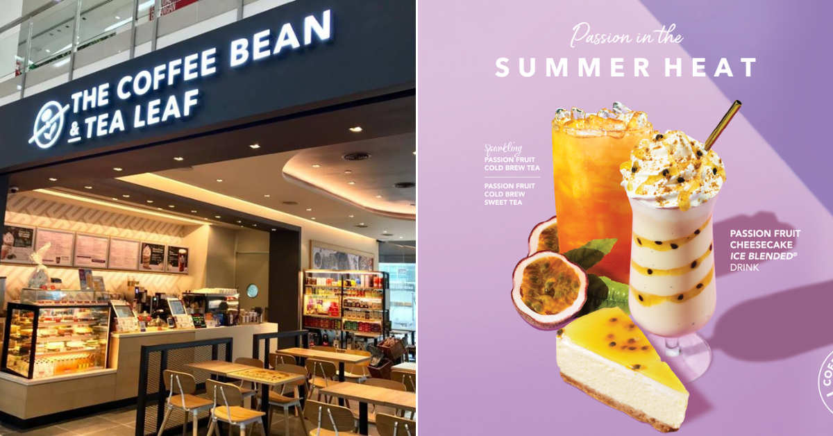 New Coffee Bean Tea Leaf Introduces Passion Fruit Cheesecake Ice Blended Foodie
