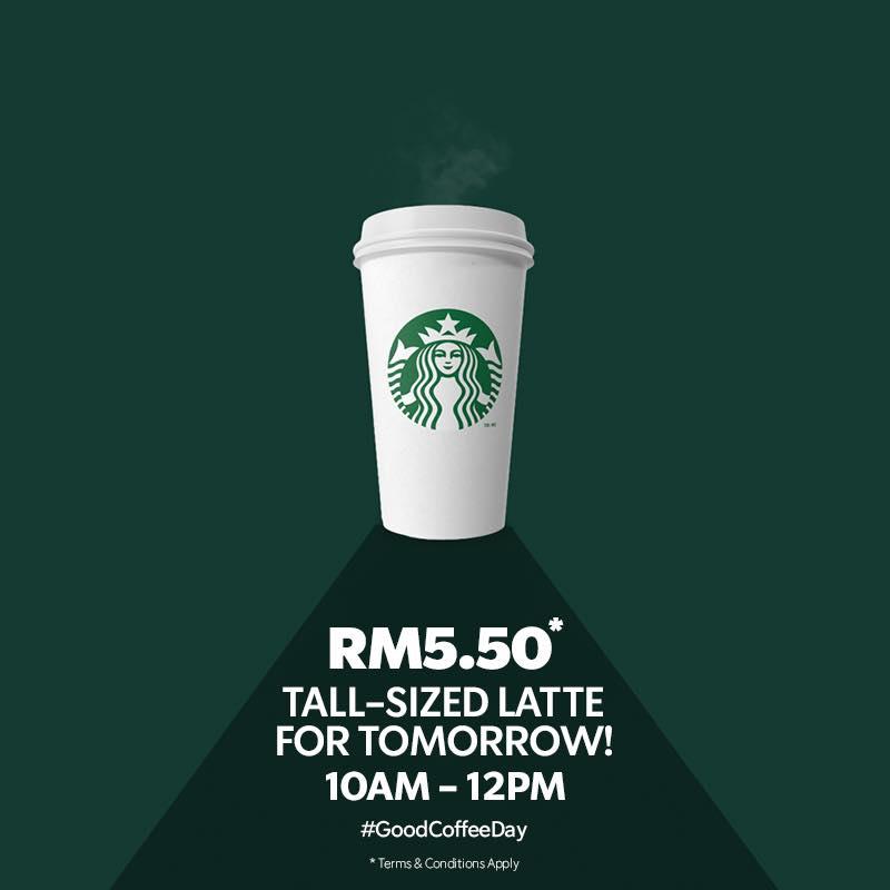Starbucks Malaysia Tall Latte RM5.50