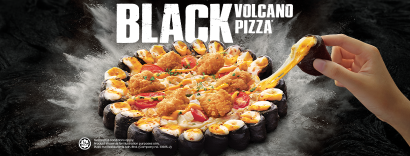 Pizza Hut black volcano pizza-