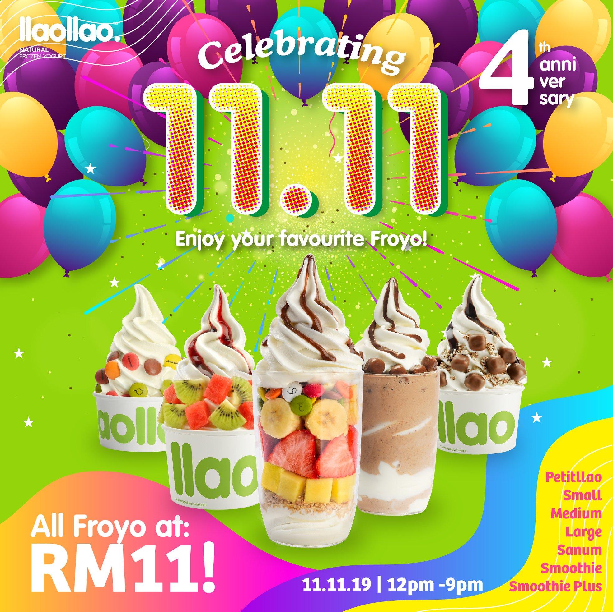 11.11 food deals 2019