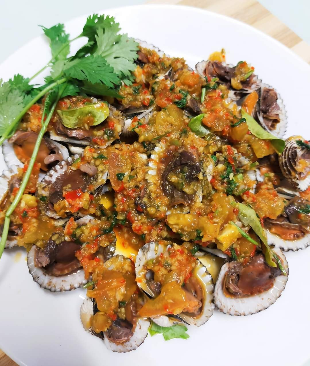 resipi kerang rebus thai